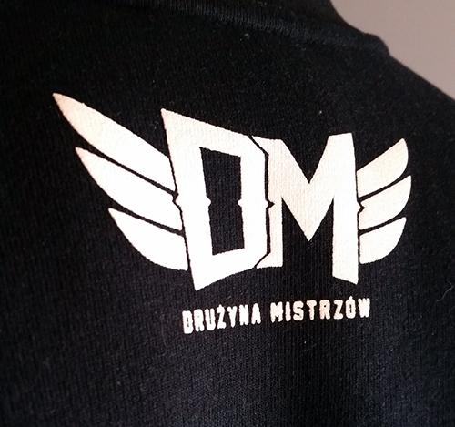"""bluza dm """"logo"""" czarna"""