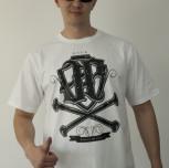 """T-shirt JP """"Czaszka""""biały"""