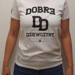 """T-shirt JP """"Dobre Dziewczyny"""" white"""