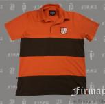 Polo męskie (pomarańczowy / brązowy)