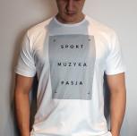 """T-shirt DM """"Motto2"""" biały"""