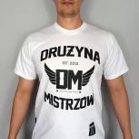 "T-shirt DM ""SMP"" biały"