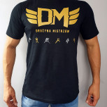 "T-shirt DM ""TCM"" gold black"