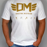"T-shirt DM ""TCM "" gold white"