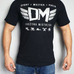 "T-shirt DM ""TCM"" silver black"