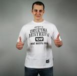 """T-shirt Drużyna Mistrzów """"Property of DM"""" biały"""