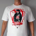 "T-shirt JP ""FDC"" biały"