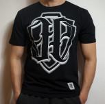T-shirt JP Firma PKIUZ czarny (świeci w ciemności)