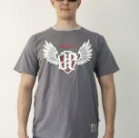 """T-shirt JP """"Jestem Patriotą III"""" szary"""