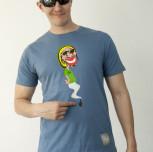 T-shirt RASTA-HASH niebieski