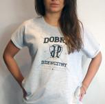 """T-shirt/Tunika JP """"Dobre Dziewczyny""""szara"""