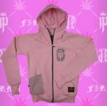 bluza dresowa damska różowy (szary) - nowy model